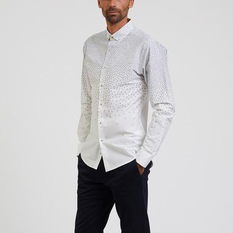 Print Shirt // White + Navy (S)