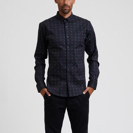 Geo Pattern Shirt // Charcoal (S)