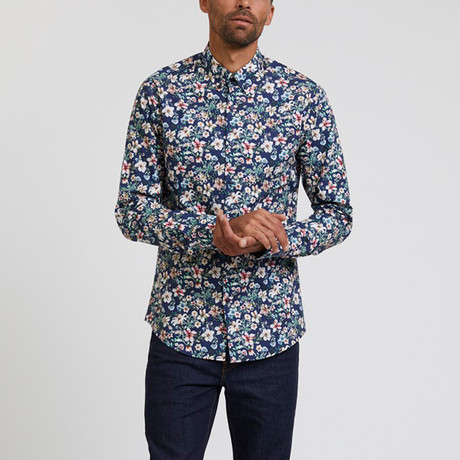 Floral Printed Shirt // Multicolor (S)
