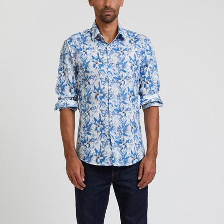 Printed Shirt // Blue + White (S)