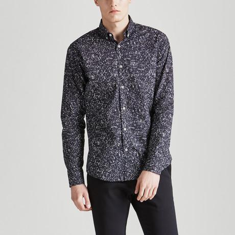 Slim Fit Print Shirt // Black + White (S)