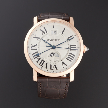 Cartier Rotonde de Cartier Large Date Second Time-Zone Automatic // W1556220 // Pre-Owned