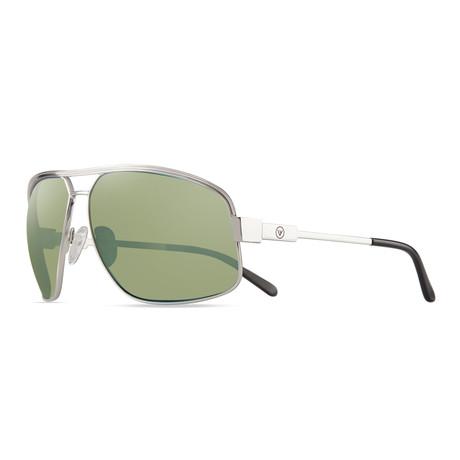 Stargazer Sunglasses // Glass Lenses // Chrome + Green