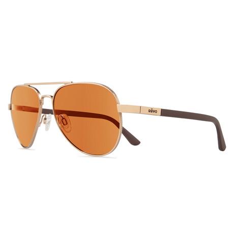 Raconteur Sunglasses // Gold + Open Road
