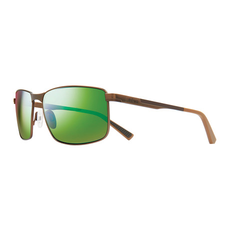 Knox Sunglasses // Brown + Green Water