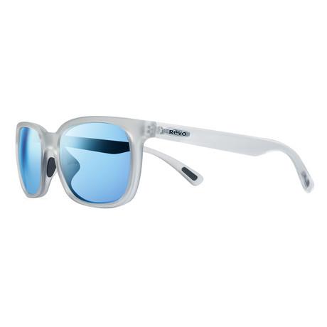 Slater Sunglasses // Glass Lenses // Matte Crystal + Blue Water