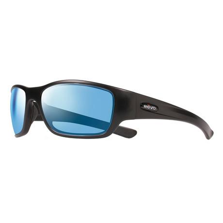 Heading Sunglasses // Shiny Black + Blue Water