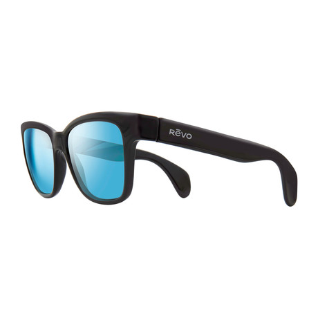 Trystan Sunglasses // Shiny Black + Blue Water