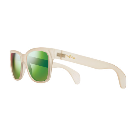 Trystan Modified Square Sunglasses // Matte Sand + Green Water