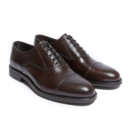 Toe Cap Oxford // Dark Brown (Euro: 40)