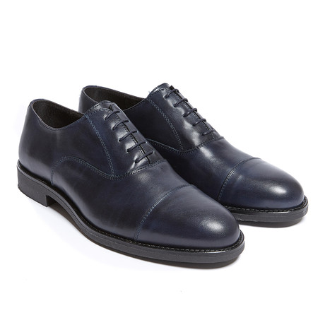 Toe Cap Oxford // Navy (Euro: 40)