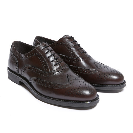 Wing Cap Oxford // Dark Brown (Euro: 40)