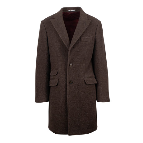 Brunello Cucinelli // Wool Blend Overcoat // Brown (Euro: 54)