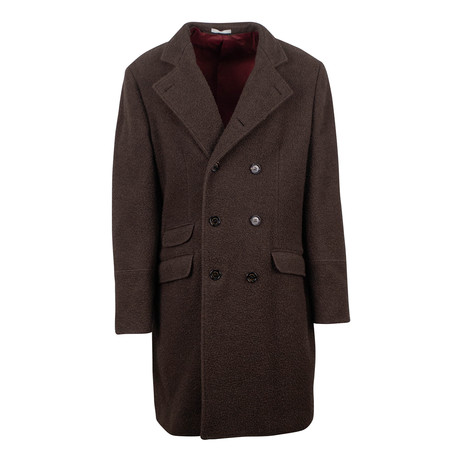 Brunello Cucinelli // Wool Blend DB Overcoat Coat // Brown (Euro: 48)