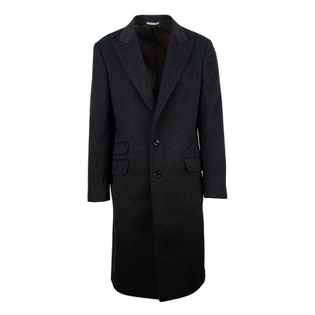 Brunello Cucinelli // Cashmere Overcoat Coat // Charcoal Gray (Euro: 54)