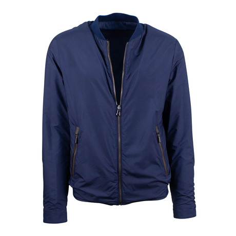 Pal Zileri // Nylon Reversible Bomber Jacket // Blue (Euro: 48)