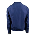 Pal Zileri // Nylon Reversible Bomber Jacket // Blue (Euro: 50)