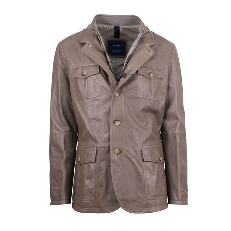 Pal Zileri Concept // Lamb Leather Jacket // Light Brown (Euro: 54)