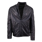 Pal Zileri Concept // Leather Reversible Bomber Jacket // Brown + Black (Euro: 48)