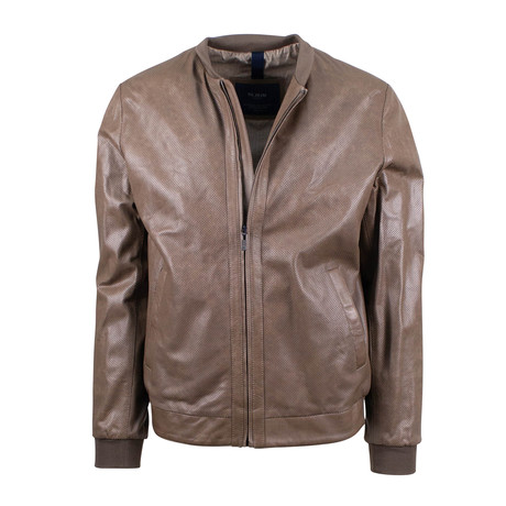 Pal Zileri Concept // Leather Bomber Jacket // Light Brown (Euro: 54)