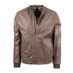 Pal Zileri Concept // Leather Bomber Jacket // Light Brown (Euro: 48)