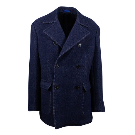 Pal Zileri Sartoriale // Double Breasted Wool Coat // Blue (Euro: 54)