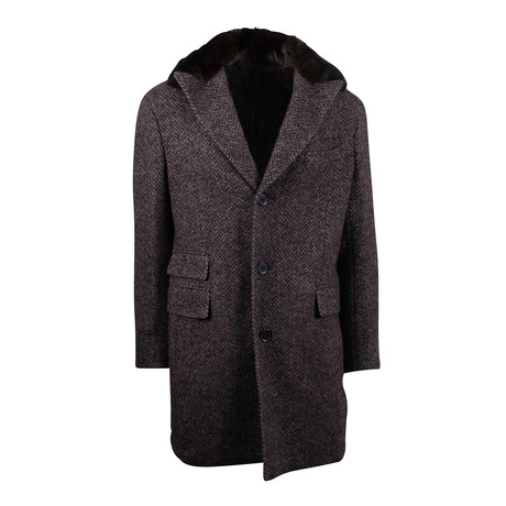 Pal Zileri Sartoriale // Twill Wool-Alpaca Overcoat // Brown (Euro: 54)