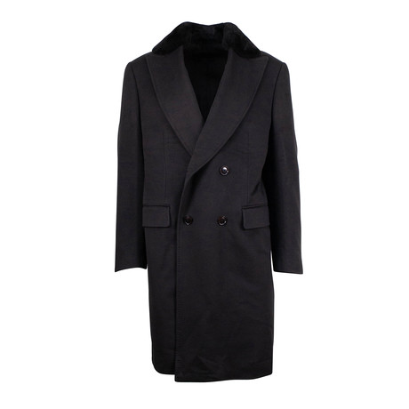 Pal Zileri // Cashmere Double Breasted Wool Coat // Green (Euro: 48)