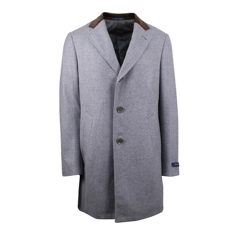 Pal Zileri // Tweed Wool Coat // Gray (Euro: 48)