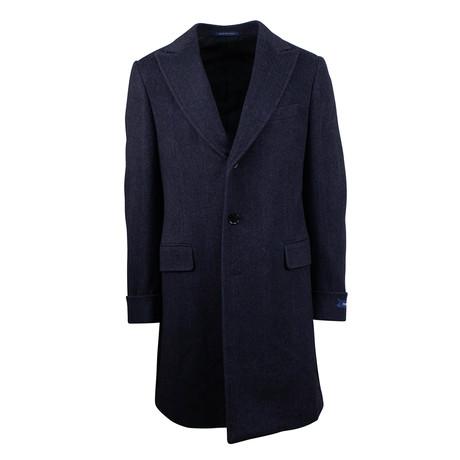Pal Zileri // Twill Wool Coat // Blue (Euro: 48)