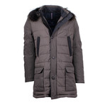 Pal Zileri Concept // Quilted Parka Coat // Brown (Euro: 48)