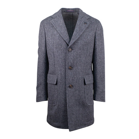 Pal Zileri Concept // Tweed Wool Coat // Gray (Euro: 54)