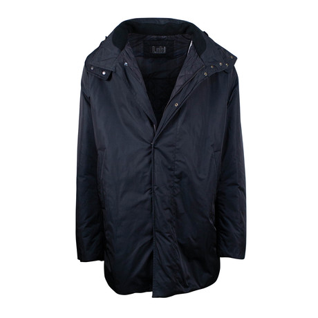 Pal Zileri Lab // Hooded Parka Coat Jacket // Black (Euro: 48)