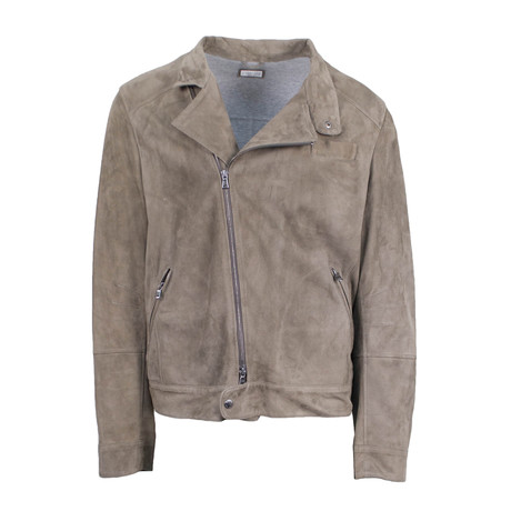 Brunello Cucinelli // Suede Leather Jacket // Brown (S)