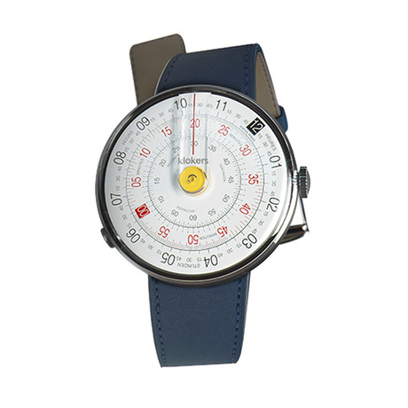 Klokers Quartz // KLOK-01-D1 Yellow // Indigo Blue Simple Strap