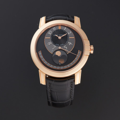 Harry Winston Midnight Moon Phase Automatic // MIDAMP42RR002 // Store Display