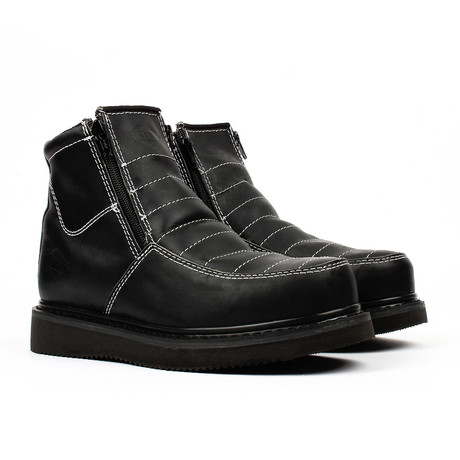 Pull-on Wedge Work Boots // Black (US: 5)