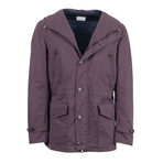Brunello Cucinelli // Men's Hooded Microfiber Jacket // Maroon (M)