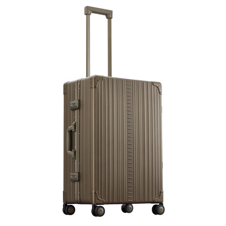 "26"" Aluminum Traveler Checked Luggage // Bronze"