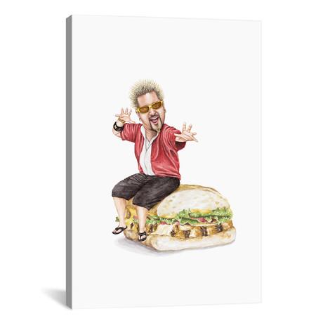 """Guy Fieri // Celebs on Sandwiches (26""""W x 18""""H x 0.75""""D)"""