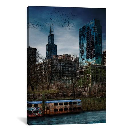 "Post Apocalyptic Chicago // Matt Coglianese (26""W x 18""H x 0.75""D)"