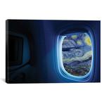 "Above A Starry Night // Dot Pigeon (40""W x 26""H x 1.5""D)"