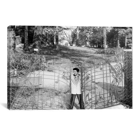 Elvis Presley By The Gates Of Graceland // Globe Photos, Inc.