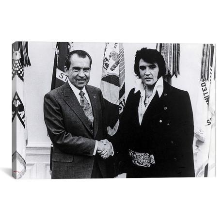 Richard Nixon + Elvis Presley Shaking Hands // Globe Photos, Inc.