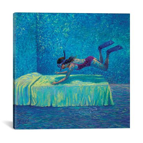 "The Diver // Iris Scott (18""W x 18""H x 0.75""D)"