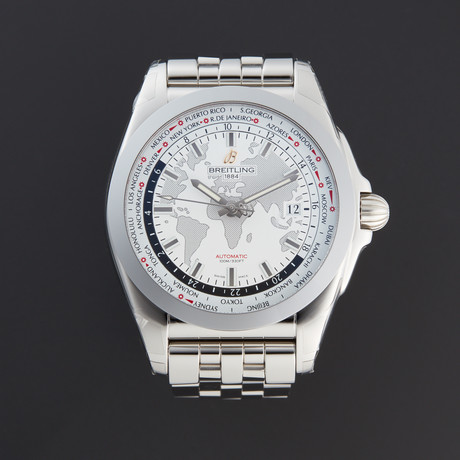 Breitling Galactic Unitime World Time Automatic // WB3510U0/A777-375A // New