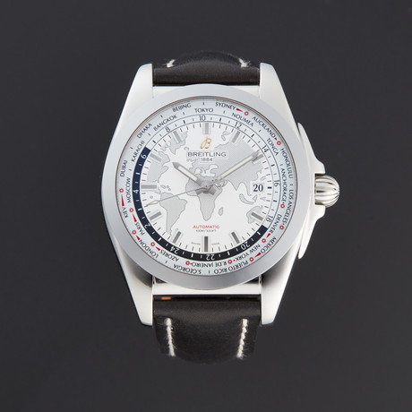 Breitling Galactic Unitime World Time Automatic // WB3510U0/A777BKLT // New