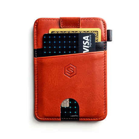 Minimalist Wallet // Brown + Black Stripe
