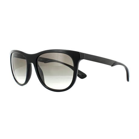 Prada // Men's Squared Sunglasses // Black + Gray Gradient