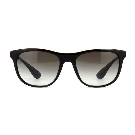 Prada // Men's Squared Sunglasses // Black + Gray Gradient